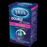 Optone Double Action Solution Oculaire Yeux Secs Fl/10ml à La Ricamarie