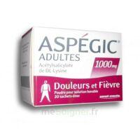 ASPEGIC ADULTES 1000 mg, poudre pour solution buvable en sachet-dose 20 à La Ricamarie