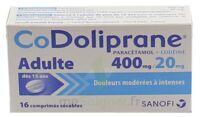 Codoliprane Adultes 400 Mg/20 Mg, Comprimé Sécable à La Ricamarie