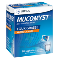 MUCOMYST 200 mg Poudre pour solution buvable en sachet B/18 à La Ricamarie