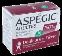ASPEGIC ADULTES 1000 mg, poudre pour solution buvable en sachet-dose 30 à La Ricamarie