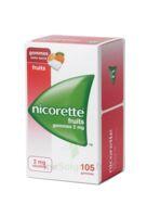 Nicorette 2 mg Gomme à mâcher médicamenteuse sans sucre fruits Plq/105 à La Ricamarie