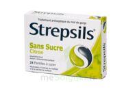 STREPSILS CITRON SANS SUCRE, pastille édulcorée à l'isomalt, au maltitol et à la saccharine sodique à La Ricamarie