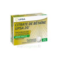 Citrate De Bétaïne Upsa 2 G Comprimés Effervescents Sans Sucre Menthe édulcoré à La Saccharine Sodique T/20 à La Ricamarie