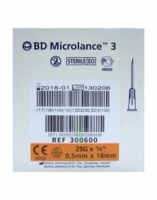 BD MICROLANCE 3, G25 5/8, 0,5 mm x 16 mm, orange  à La Ricamarie