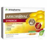 Arkoroyal Dynergie Ginseng Gelée Royale Propolis Solution Buvable 20 Ampoules/10ml à La Ricamarie