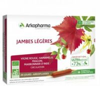 Arkofluide Bio Ultraextract Solution buvable jambes légères 20 Ampoules/10ml à La Ricamarie