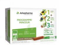 Arkofluide Bio Ultraextract Coffret Programme Minceur 3x10 Ampoules/10ml à La Ricamarie