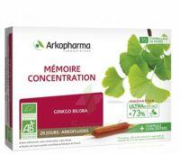 Arkofluide Bio Ultraextract Solution buvable mémoire concentration 20 Ampoules/10ml à La Ricamarie