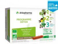 Arkofluide Bio Ultraextract Coffret Programme Détox 3x10 Ampoules/10ml à La Ricamarie