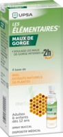 LES ELEMENTAIRES Solution buccale maux de gorge adulte 30ml à La Ricamarie