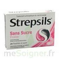 STREPSILS FRAISE SANS SUCRE, pastille édulcorée à l'isomalt, au maltitol et à la saccharine sodique à La Ricamarie