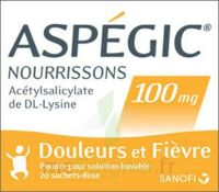 Aspegic Nourrissons 100 Mg, Poudre Pour Solution Buvable En Sachet-dose à La Ricamarie