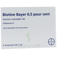 BIOTINE BAYER 0,5 POUR CENT, solution injectable I.M. à La Ricamarie