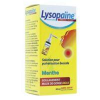 LYSOPAÏNE AMBROXOL 17,86 mg/ml Solution pour pulvérisation buccale maux de gorge sans sucre menthe Fl/20ml à La Ricamarie