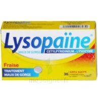 LYSOPAÏNE Comprimés à sucer maux de gorge fraise sans sucre 2T/18 à La Ricamarie