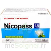 Nicopass 1,5 Mg Pastille Sans Sucre Menthe Fraîcheur Plq/96 à La Ricamarie