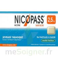 Nicopass 2,5 Mg Pastille Menthe Fraîcheur Sans Sucre Plq/36 à La Ricamarie