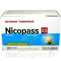Nicopass 2,5 Mg Pastille Menthe Fraîcheur Sans Sucre Plq/96 à La Ricamarie