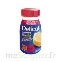 DELICAL BOISSON HP HC CONCENTREE Nutriment vanille 4Bouteilles/200ml à La Ricamarie