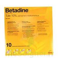 Betadine Tulle 10 % Pans Méd 10x10cm 10sach/1 à La Ricamarie