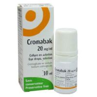 CROMABAK 20 mg/ml, collyre en solution à La Ricamarie