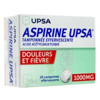 ASPIRINE UPSA TAMPONNEE EFFERVESCENTE 1000 mg, comprimé effervescent à La Ricamarie