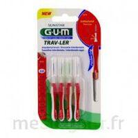 GUM TRAV - LER, 0,8 mm, manche rouge , blister 4 à La Ricamarie