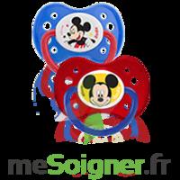Dodie Disney Sucette anatomique silicone +6mois Mickey Lot/2 à La Ricamarie