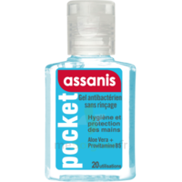Assanis Pocket Gel antibactérien mains 20ml à La Ricamarie