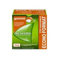 Nicorette 2 mg Gomme à mâcher médicamenteuse sans sucre fruits Plq/210 à La Ricamarie