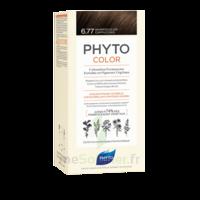Phytocolor Kit Coloration Permanente 6.77 Marron Clair Cappuccino à La Ricamarie