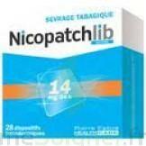 NICOPATCHLIB 14 mg/24 h Dispositifs transdermiques B/28 à La Ricamarie