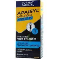 Apaisyl Anti-poux Xpress 15' Lotion Antipoux Et Lente 100ml+peigne à La Ricamarie