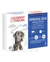 Fiprokil Duo 402mg/120mg Solution Pour Spot-on Très Grands Chiens 40-60kg 4 Pipettes/4,02ml à La Ricamarie