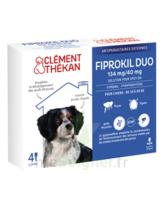 Fiprokil Duo 134mg/40mg Solution Pour Spot-on Chiens Moyens 10-20kg 4 Pipette/1,34ml à La Ricamarie