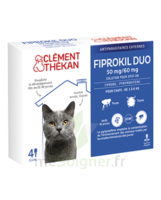 Fiprokil Duo 50mg/60mg Solution Pour Spot-on Chat Moins De 4kg 4 Pipettes/0,5ml