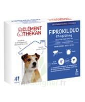 Fiprokil Duo 67mg/20mg Solution Pour Spot-on Petits Chiens 2-10kg 4 Pipettes/0,67ml à La Ricamarie