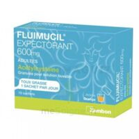 Fluimucil Expectorant Acetylcysteine 600 Mg Glé S Buv Adultes 10sach à La Ricamarie