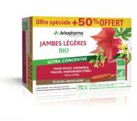 Arkofluide Bio Ultraextract Solution Buvable Jambes Légères 30 Ampoules/10ml
