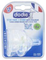 Dodie Initiation+ Tétine 3vitesses Débit4 Silicone Liquide épais B/2 à La Ricamarie