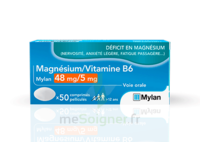 Magnesium/vitamine B6 Mylan 48 Mg/5 Mg, Comprimé Pelliculé